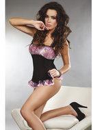 Zwarte Livia Corsetti Fashion Adsila Babydoll Set
