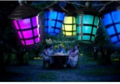 Konstsmide 4162 - Snoerverlichting - 20 lamps LED gekleurde lantaarns - 475 cm - 24V - voor buiten - multicolor