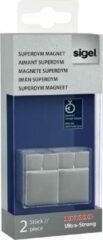 Sigel Magneet SuperDym C30 Ultra-Strong Cube-Design (b x h x d) 20 x 30 x 20 mm dobbelsteen Zilver 2 stuk(s) GL707