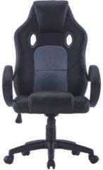 Zwarte VidaXL Gamingstoel kunstleer grijs