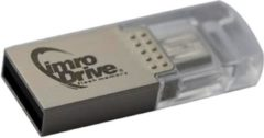 Zilveren ABC-Led Micro USB OTG Flash Drive 16GB Imro Drive