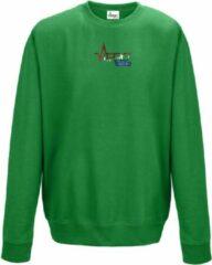 FitProWear Sweater Heren - Groen - Maat S - Heren - Trui zonder capuchon - Sweater - Hoodie - Trui - Sporttrui - Katoen / Polyester - Sportkleding - Casual kleding
