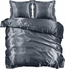 Antraciet-grijze Beauty Silk - Dekbedovertrek Satijn - Antraciet - 240x200/220