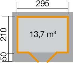 WEKA | Designhuis 126 Gr.1 | 295x210 cm | Antraciet