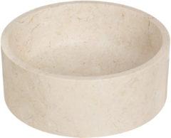Beige Waskom Imso Lavabo Cerchio Bianco Marmer 40x15 cm