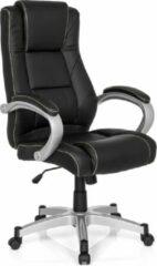 Hjh office Relax CLL 180 - Bureaustoel - Directiestoel - Kunstleder - Zwart / zilver