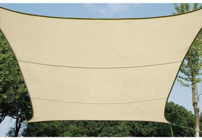 Afbeelding van Velleman SCHADUWDOEK - WATERDOORLATEND ZONNEZEIL - VIERKANT 5 x 5m, kleur: beige