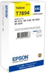 Gele Epson T7894XXL - Inktcartridge / Geel / Extra Hoge Capaciteit