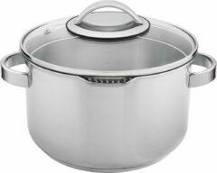 Sola - Kookpan Pearl - Ø 24 cm - Zilver - Inclusief deksel