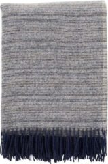 Donkerblauwe Plaid Wol Klippan Alaska - Deken - Woon accessoire - wollendeken -Denim - Donker Blauw-Indigo