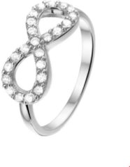 The Fashion Jewelry Collection Ring Infinity Zirkonia - Zilver