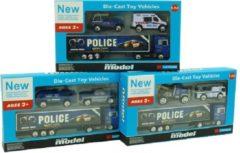 Merkloos / Sans marque Politievoertuigen 3st In Blister 3 Ass.