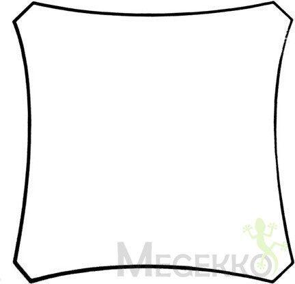 Afbeelding van Creme witte Planet24 Schaduwdoek - Zonnezeil - Vierkant 5 X 5M, Kleur: Crème