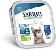 Yarrah brokjes in saus biologische makreel, kuipje - 16 ST à 100 gr