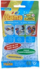 Hama Strijkkralen 0057 Glow in the dark blauw 1000 st.