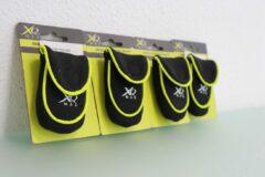 Gele XQ Max Hardloop portemonneetjes set van 4