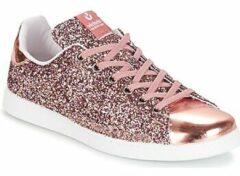 Roze Sneakers Deportivo Basket Glitter by Victoria