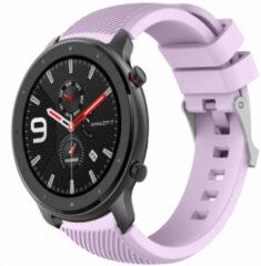 Merkloos / Sans marque Smartwatchbandje - Geschikt voor Xiaomi Amazfit GTR silicone band - lila - 42mm