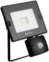 Avide led breedstraler/floodlight slim met bewegingssensor - 10watt - 4000K - 800 lumen