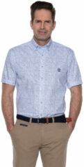 Witte Campbell Casual overhemd met korte mouwen