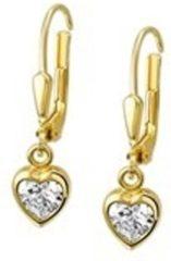 Goudkleurige Huiscollectie Tomylo - Gouden oorhanger met zirkonia - 4014857