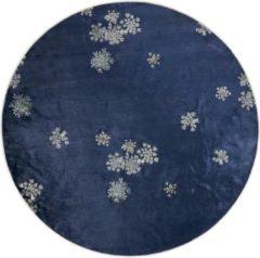 ESSENZA Lauren Vloerkleed Indigo blauw - rond Ø180 cm