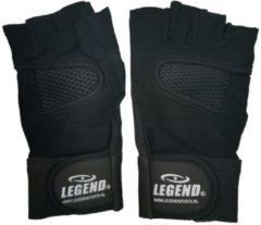 Legend Sports Fitness handschoen legend mesh zwart maat XS