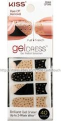 Gouden Kiss products Kiss - Gel dress peel-off removal full/art 40+ gel strips GPD09c Sweet melody