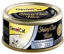 GimCat ShinyCat Filet - Tonijn met Ansjovis - 24 x 70 gram