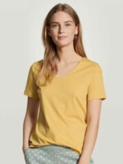 Calida Calida dames pyjamatop kort 14051 sunny yellow