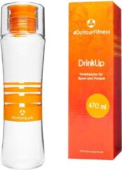 #DoYourFitness - Drinkfles - »DrinkUp« - Sportfles met geavanceerde sluitingstechnologie - 470ml - Oranje
