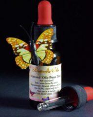Butterfly Oil Amandelolie Puur 20ml Pipetfles - Zoete Amandel Olie voor Huid en Haren - Sweet Almond Oil