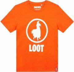Epic Games Fortnite T-shirt met korte mouw - oranje - Maat 176