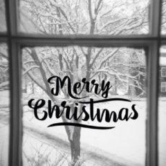 Zwarte Namenenzo Sticker Raamsticker kerst A4 - Merry Christmas | Kerst stickers | kerststickers raam | Gratis Verzending!