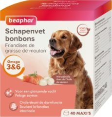 Beaphar Schapenvetbonbons Zalm - Hondensnacks - 6 x Medium