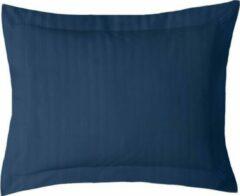 Donkerblauwe ISleep Satijnstreep Kussensloop - 60x70 cm - Donker Blauw