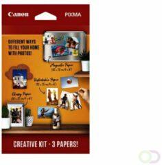 Witte Canon Pixma Creative kit - Fotopapier - Magnetisch, herplakbaar en glossy 10x15 cm