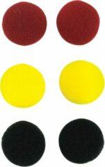 SoundLAB Oorkussens voor oordoppen / rood/zwart/geel