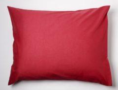 Day Dream slopen - strijkvrij - katoen - set van 2 - 60 x 70 - Rood