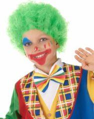 CARNIVAL TOYS - Groene clownspruik voor kinderen - Pruiken