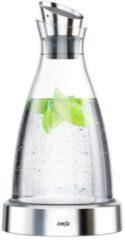 Roestvrijstalen Emsa FLOW koelkaraf 1.0L glas/RVS