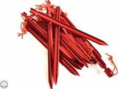 Rode Haringboer 19cm 7075-T6 aluminium propeller-haringen - Tentharingen inclusief haringzak