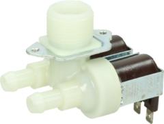Universeel Magnetventil 2-fach 90° 11,5mmØ (gewinkel) für Waschmaschinen 282372