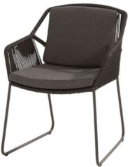 Antraciet-grijze Garden Collection 4 Seasons Outdoor Accor dining chair with 2 cushions