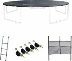 Alice's Garden Accessoire set voor trampoline Ø460cm met ladder, beschermhoes, opbergnet voor schoenen en verankeringskit