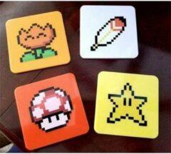Nintendo Super mario bros onderleggers 4 stuks