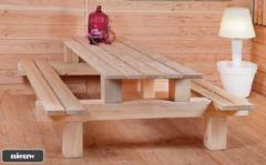 Van Kooten Tuin en Buitenleven Picknicktafel lariks/douglas Boss 250x180x75 cm