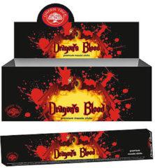 Bruine Green Tree Candle Company Wierook Dragons Blood (12 pakjes)