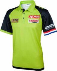 Groene XQ Max Michael van Gerwen Wedstrijd Shirt - Maat S - michael van gerwen - dartshirt