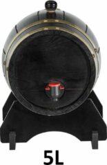 Cave & Garden Wijnvat - Wijn - drank - 5L - 5 liter - vaten - Vat - Decoratie - Zwart met Goud - Wine
